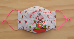 Face Mask - Strawberry Shortcake vintage fabric