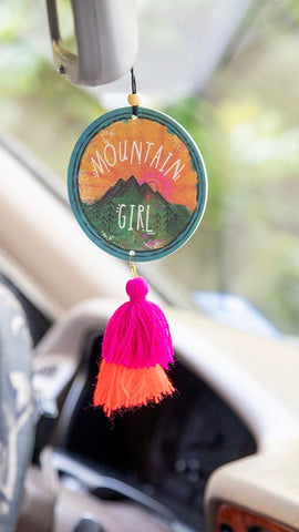 Mountain Girl Car Freshener