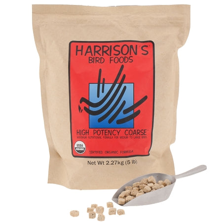 Harrison's Nutritional Crunchy High Potency Coarse Parrot Food Pellets 5lb