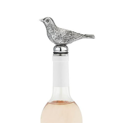 Pewter Bottle Stopper for Bird Lovers - Crafted from Pewter by Twine Living Co