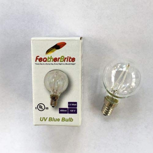 Featherbrite LED UV Bird Bulb Plus Regular Socket Adapter