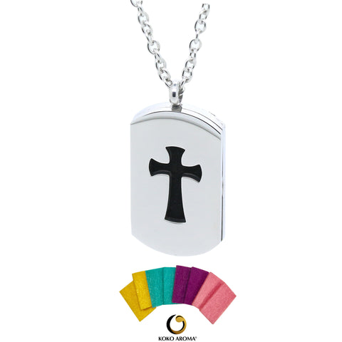 DIFFUSER NECKLACE STYLE CROSS