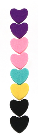 FELT PADS FOR HEART SHAPE GOLD NECKLACES -20PCS  (Assorted Color)