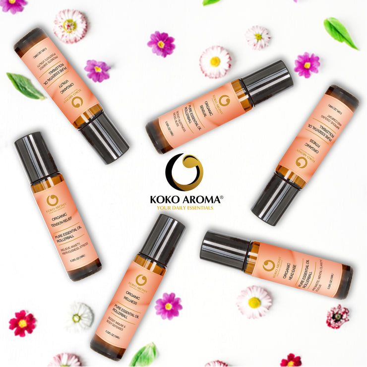 Organic Essential Oil Rollerball Gift Set