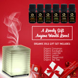 Venus Glass Diffuser + Organic Essential Oils Gift Set