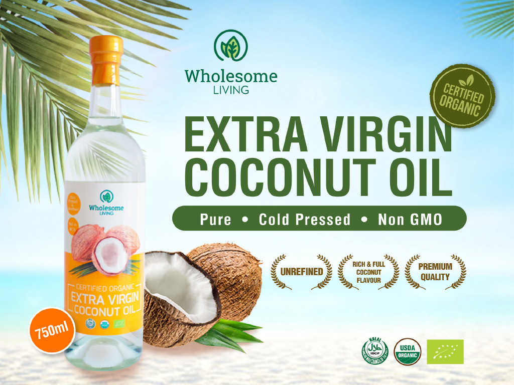 Wholesome Living Extra Virgin Coconut Oil