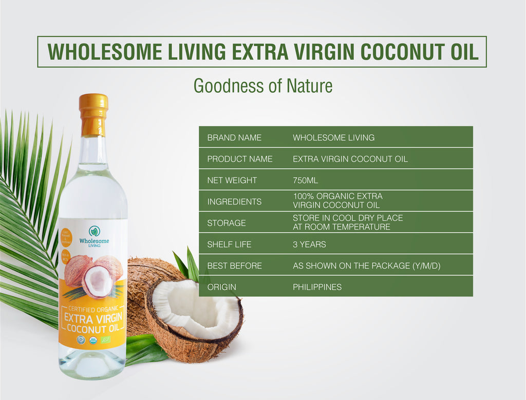 Wholesome Living Organic Extra Virgin Coconut Oil