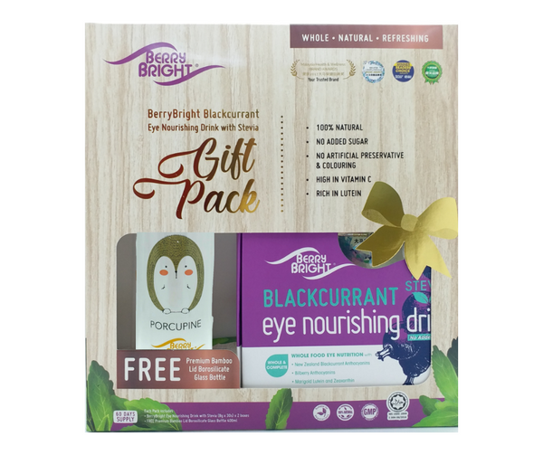 BerryBright Eye Nourishing Drink with Stevia Gift Set<small>8g x 30s x 2 + FREE Gift</small> - Euryka Naturopathics