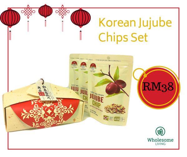 Korean Jujube Chips Set <small>30g x 3 </small> - Euryka Naturopathics