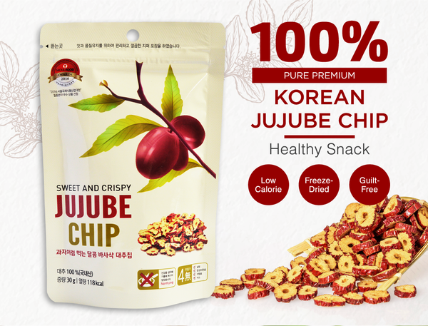 Dodum Premium Korean Jujube Chips (Red Dates Chips) 30g - Euryka Naturopathics