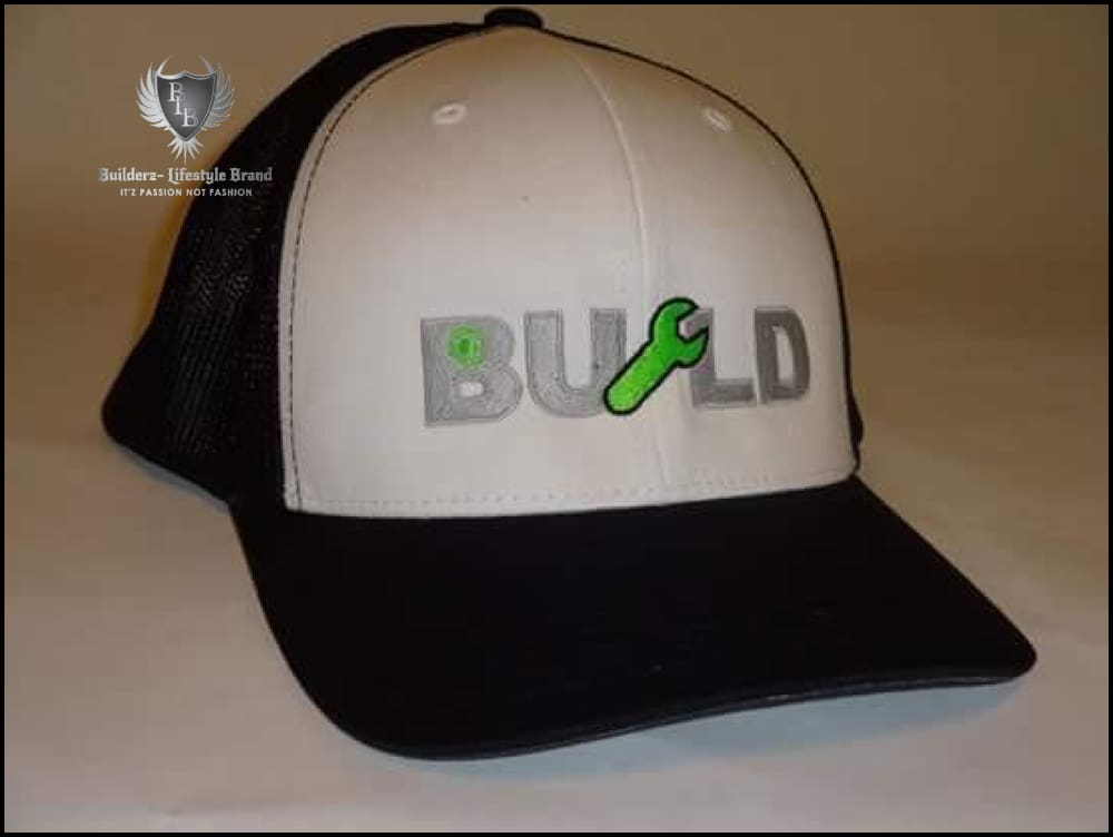 B.u.I.l.d.e.r.z - (Black/white/neon Green/silver Wrench Flexfit)