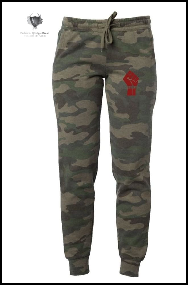 Women Red Fist Camo Wash Pants