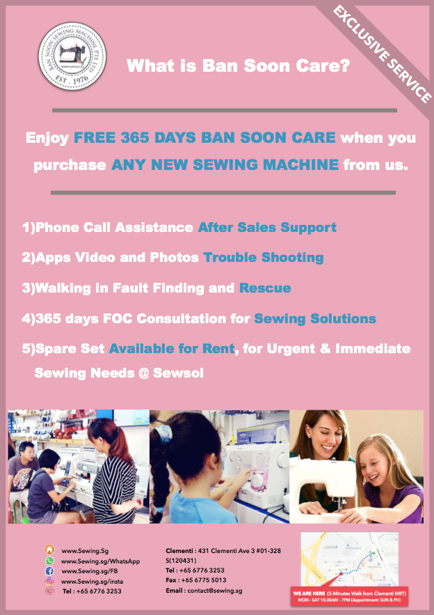 BAN SOON CARE 1 year free unlimited machine training