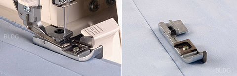 Blind hem foot The blind hem foot lets you sew invisible hems on medium- to heavy weight fabrics.  Item no.: B5002S02A