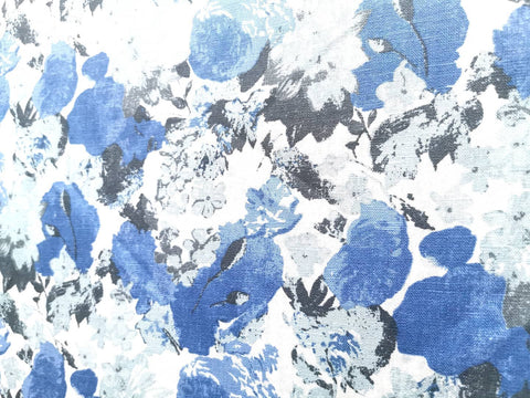 Garden Design Linen Fabrics. Medium weight, 57 inches x 2 yards packing. Very attractive pricing Blue