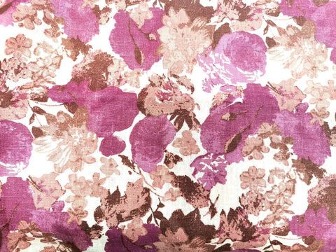 Garden Design Linen Fabrics. Medium weight, 57 inches x 2 yards packing. Very attractive pricing Pink