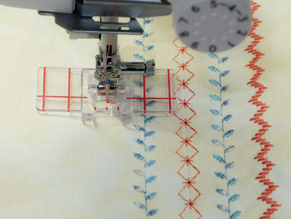 Janome Border Guide Foot (9mm) Clear view www.Sewing.sg