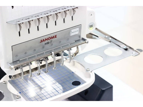 Janome MB7 hoop attaching