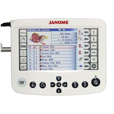 Janome MB7 large LCD editing screen