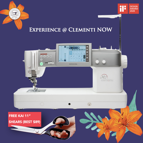 www.Sewing.sg/May Janome M7 Continental Professional Quilting Semi Industrial machine