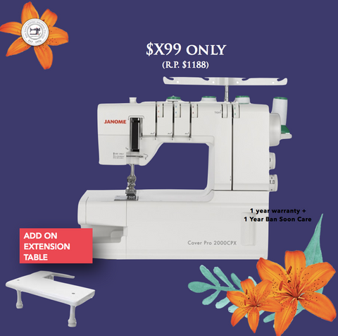 www.Sewing.sg/May Coverstitch at LOW PRICE