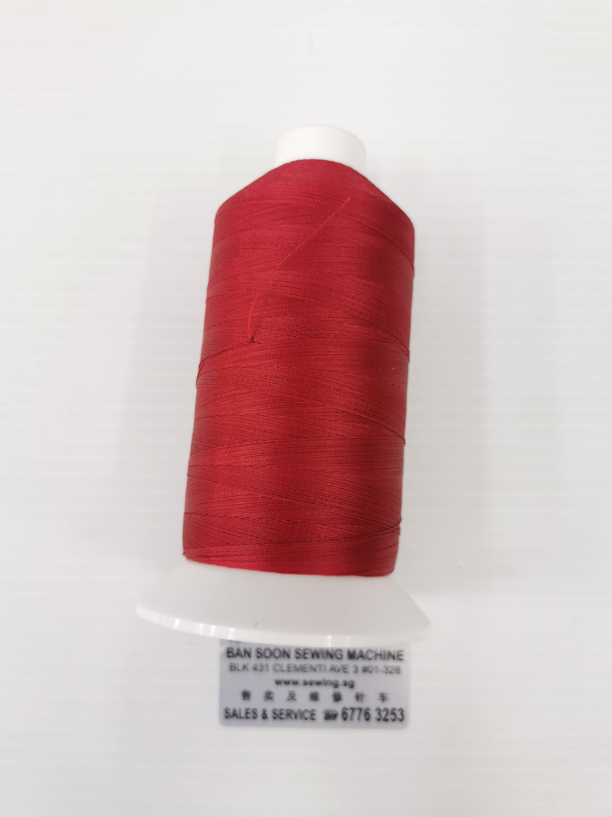 OUTDOOR SEWING THREADS, UV Resistance sewing thread. Specially produced for Shelters, Awnings and all outdoor sewing applications. SERABOND 30 V92 Red