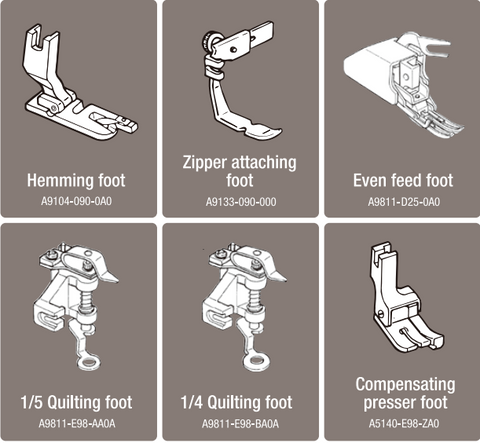 Footers for Juki TL-2010Q