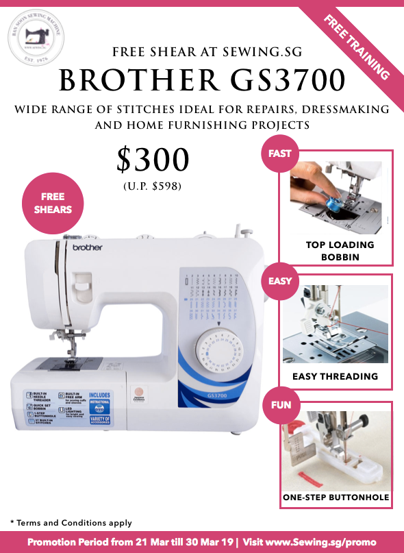 Basic Brother Sewing Machine GS3700 Sewing.sg Brother Show