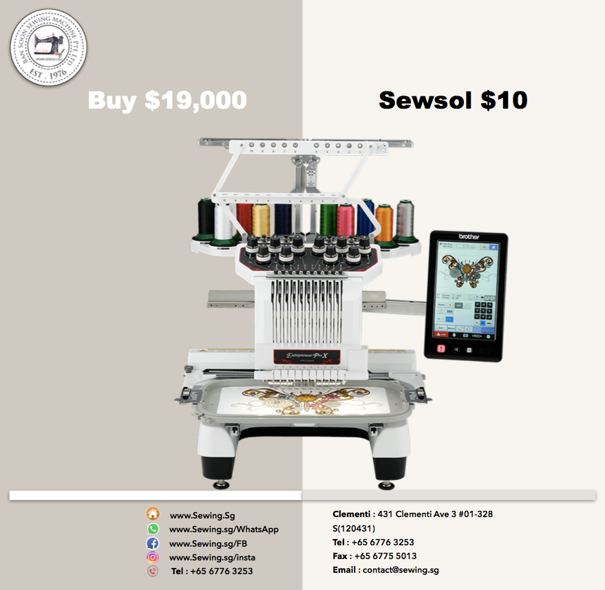 www.Sewing.Sg/Sewsol Equipment Sharing Programme for Sewing Machines at Low Price