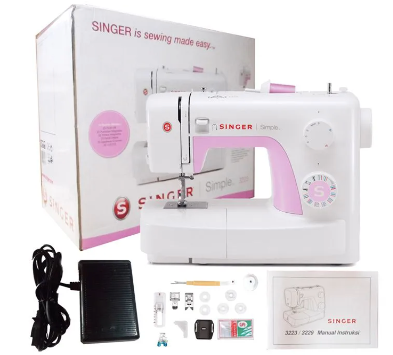Singer 3223 Simple Sewing Machine www.Sewing.sg Accessories with Instruction Manual
