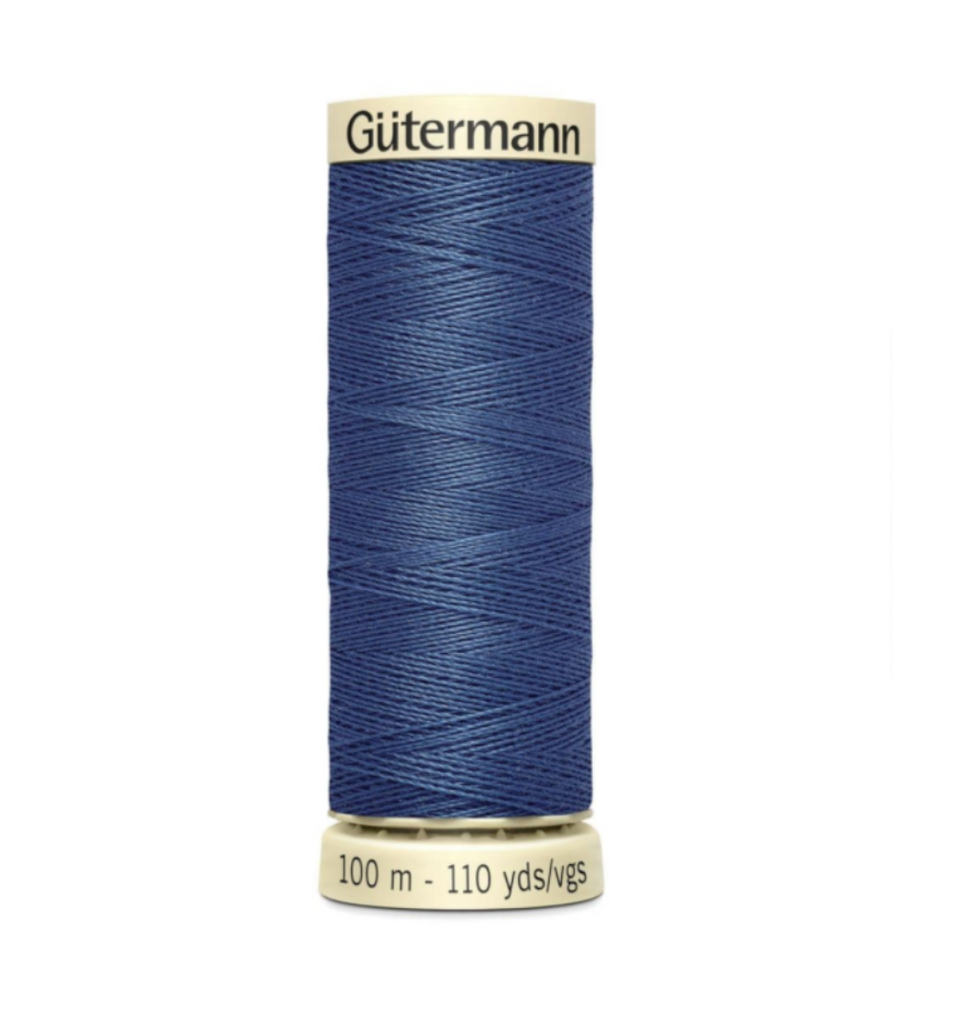 Col. 068 Gutermann Sew All Thread 100m Premium Quality 100% -Postal Blue