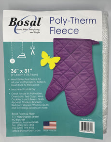 Bosal 464A Poly-Therm Heat Reflective Fleece 31 inch  X 36 inch(Non-Fuse)