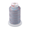 Gunold Multi Colour ( Rainbow ) Embroidery Thread Light Blue / Light Pink / Blue / Peach in a Cone - SULKY 40  - 2206