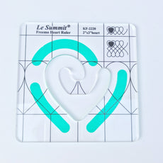 Le Summit Freemo Heart Ruler - Quilting Ruler (DS-KF-2220) - Size 50.8 x 50.8 x 3 mm