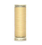 Col. 325 Gutermann Sew All Thread 100m Premium Quality 100% - Light Yellow