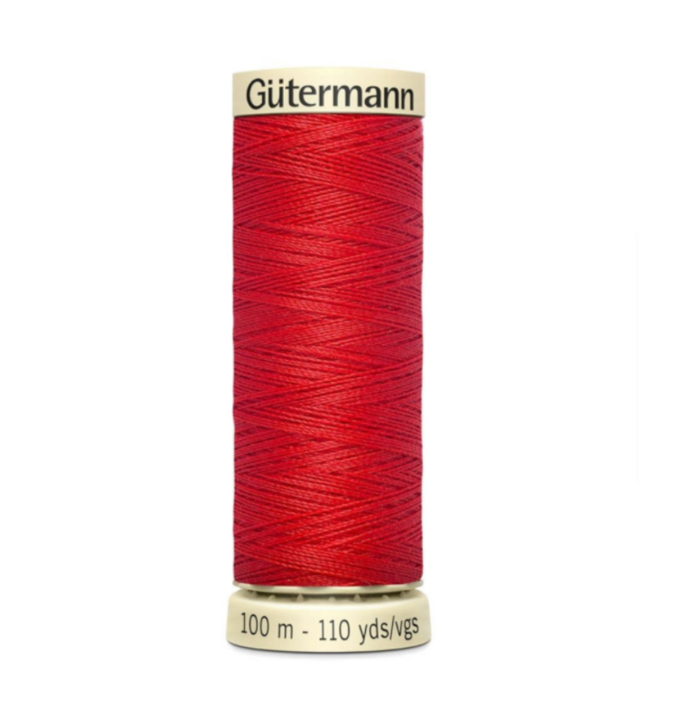 Col. 364 Gutermann Sew All Thread 100m Premium Quality 100% -Bright Orangy Red