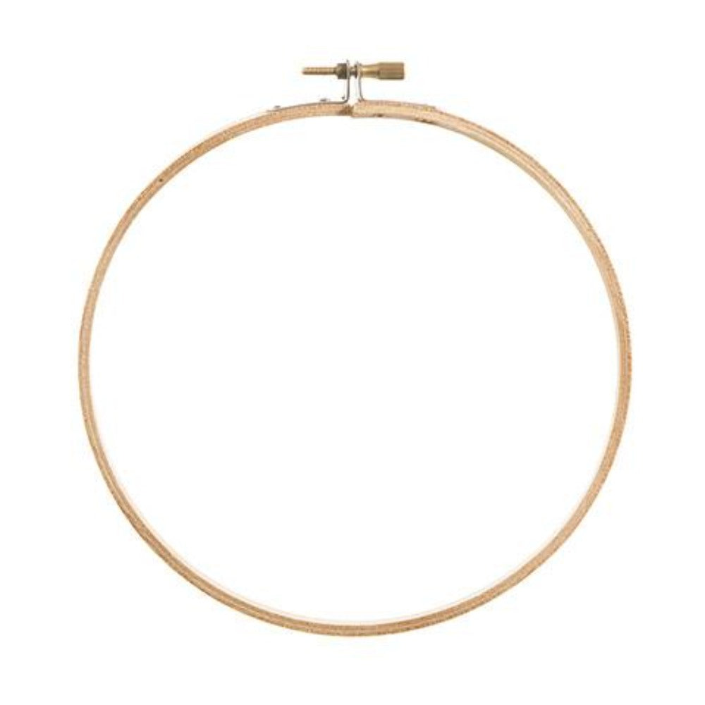 "Darice 7"" High Quality Round Wooden Embroidery Hoop"