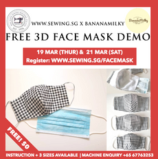 Sewing 3D Face Mask -Free Lesson