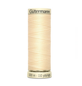 Col. 610 Gutermann Sew All Thread 100m Premium Quality 100% - Beige