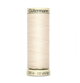 Col. 802 Gutermann Sew All Thread 100m Premium Quality 100% - Beige