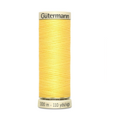 Col. 852 Gutermann Sew All Thread 100m Premium Quality 100% - Yellow