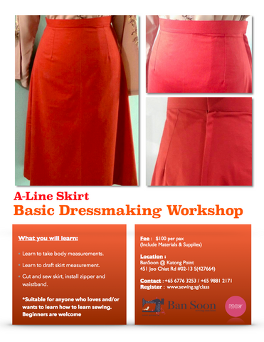 A-Line Skirt Basic Dressmaking Workshop