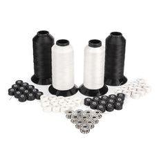 Black and White Polyester UV Thread Assortment Pack