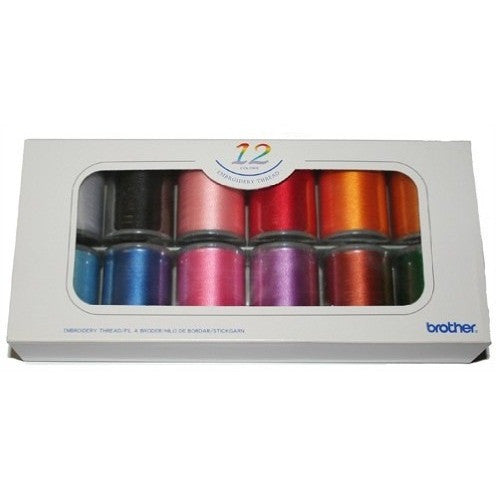 Brother Embroidery Threads - 12 Colors