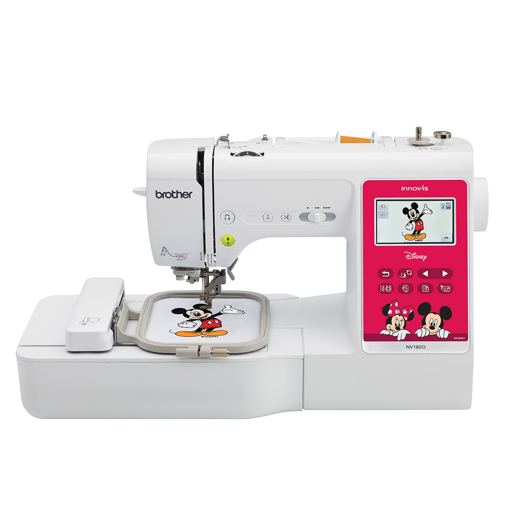 Brother NV180D - 3-in-1 Sewing + Embroidery + Quilting Machine with Disney & Mickey Mouse & Winnie The Pooh Design