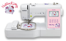 Brother sewing machine NV180K, 3 in 1 Combo Model, Sewing + HELLO KITTY character Embroidery + Quilting. 2 years Warranty, FREE lessons on proper handling & operation. FREE GUNOLD Embroidery Tool Kit($59)
