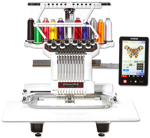Brother PR-1050X - 10-Needle Embroidery Machine + PE Design 11 + $100  Shopping Vouchers + 40 Colours Embroidery Threads[4 DAYS COMEX PROMO]