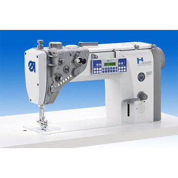 DURKOPP ADLER 967-100180 ECO - Extreme Heavy Duty applications; Single Needle Lockstitch Flatbed Machine; complete set with High Power Servo Motor.