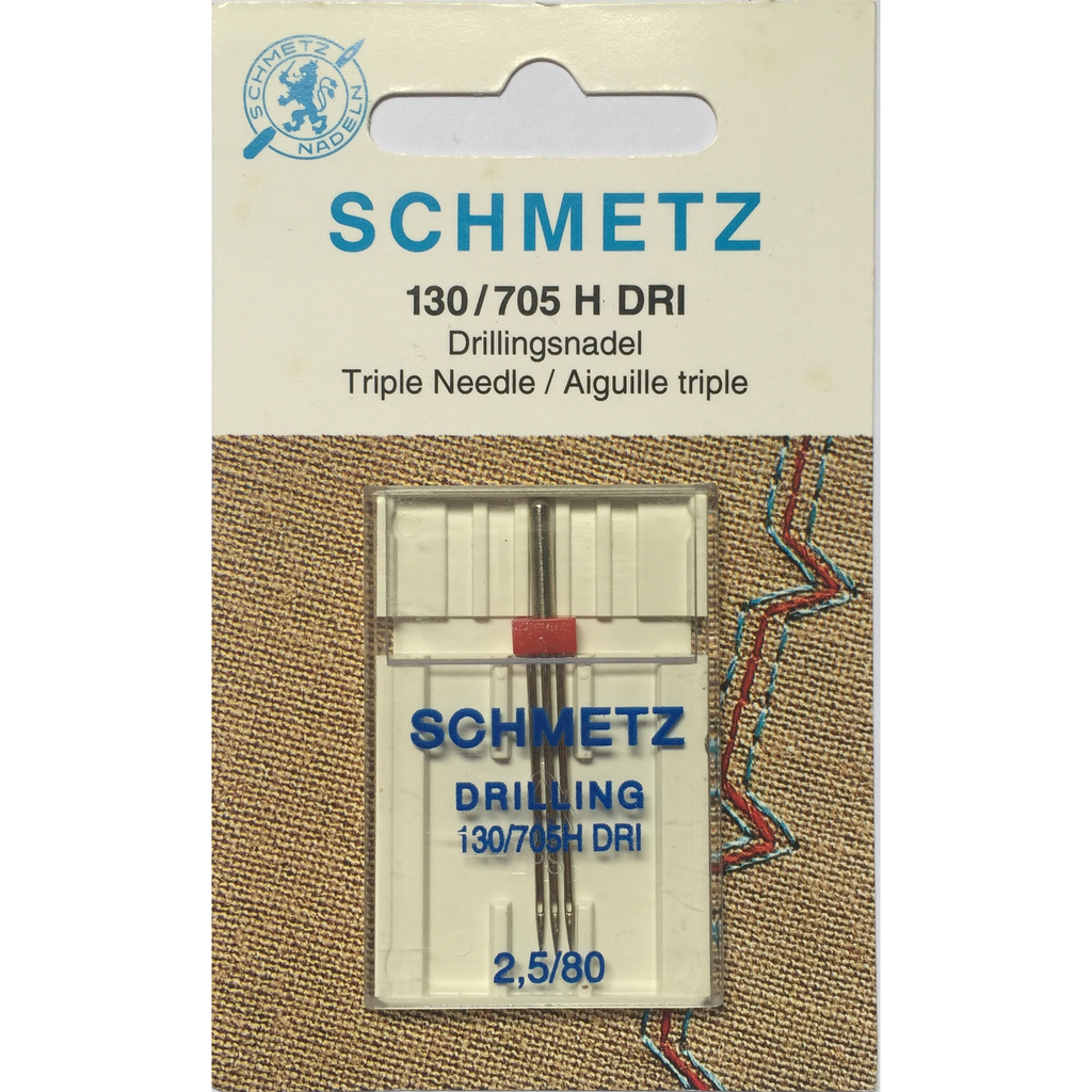 Schmetz Drilling Triple Needles