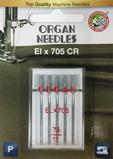 ELx705 CR Overlock Needle for Babylock, Janome, Juki, Brother Serger, Overlock, Coverstitch, or Interlock Machines